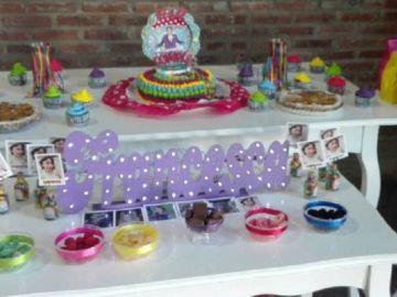 Imagen de la fiesta de cumpleaños de la niña argentina de seis años