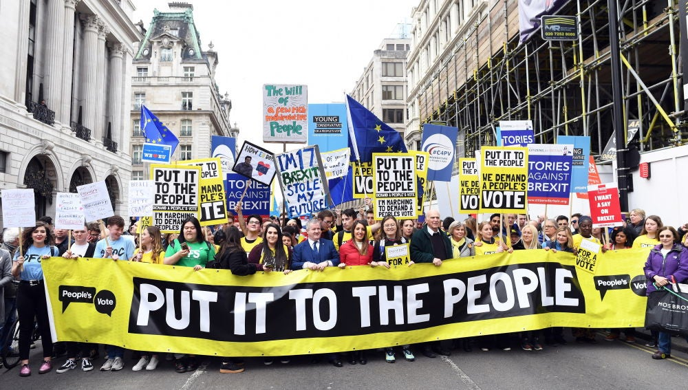 Protestas contra el 'brexit' en Reino Unido