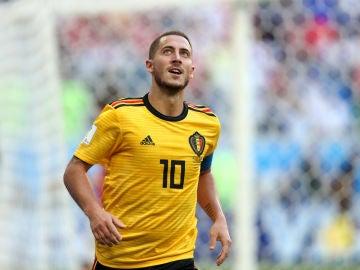 Eden Hazard, con Bélgica