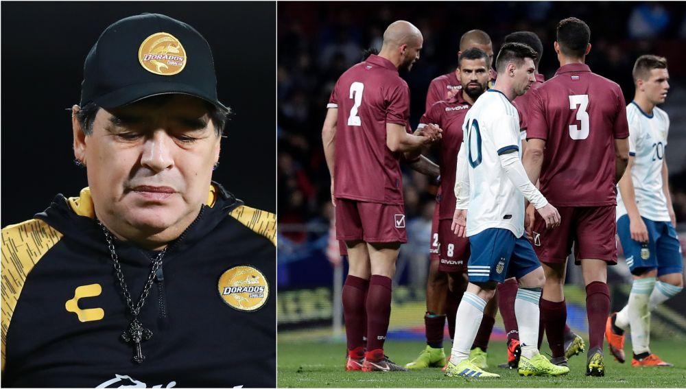 Maradona carga contra la actual selección argentina