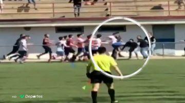Vergonzosa pelea en el Masnou vs Vic: dos jugadores del Masnou ya han sido expulsados