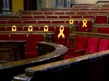 El hemiciclo del Parlament de Cataluña