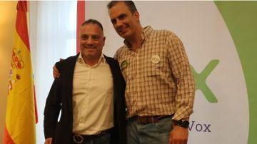 Imagen de José Ignacio Vega Peinado junto a Ortega Smith.