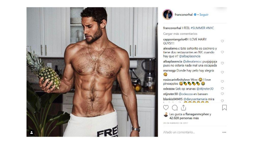 Instagram de Franco Noriega