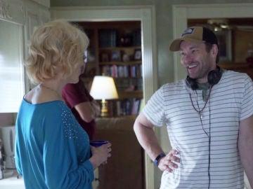Nicole Kidman y Joel Edgerton en el rodaje de 'Identidad borrada'