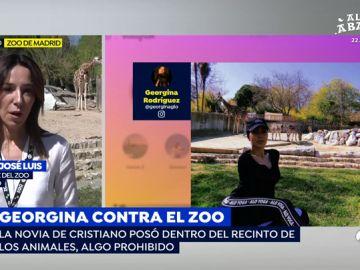 Georgina Rodríguez en su visita al zoo de Madrid