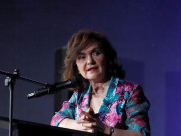 La vicepresidenta del Gobierno, Carmen Calvo, en un acto