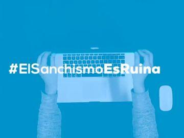 """""""Aquí empezó todo, aquí empezó la ruina"""": el vídeo del PP contra Sánchez"""