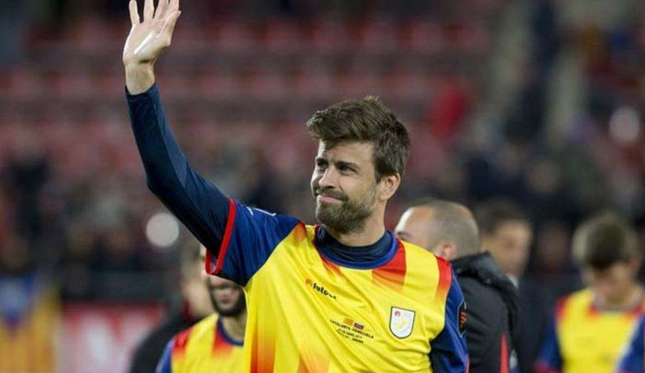 Gerard Piqué, con la selección catalana.