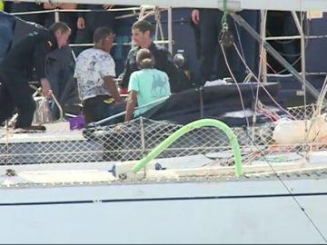 El velero de la droga registrado en el puerto de Santa Cruz