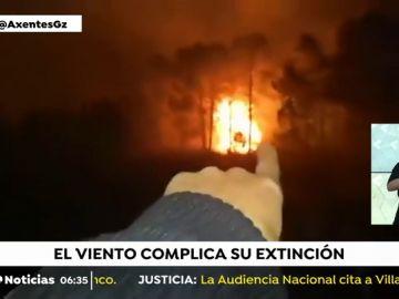 Aparatoso incendio en Bexo
