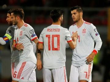 Morata celebra su gol a Malta