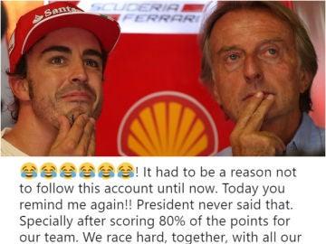 La respuesta de Alonso a la F1