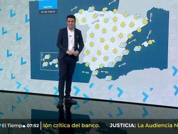 Fuertes lluvias en Canarias y estabilidad en la península