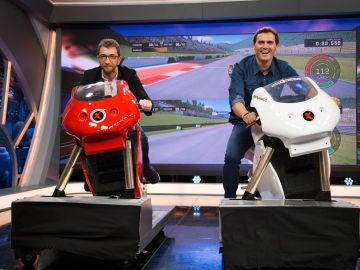 Pablo Motos y Albert Rivera compiten sobre ruedas en 'El Hormiguero 3.0'