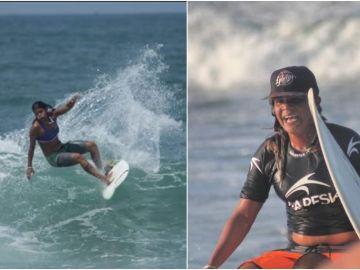La surfista Luzimara Souza
