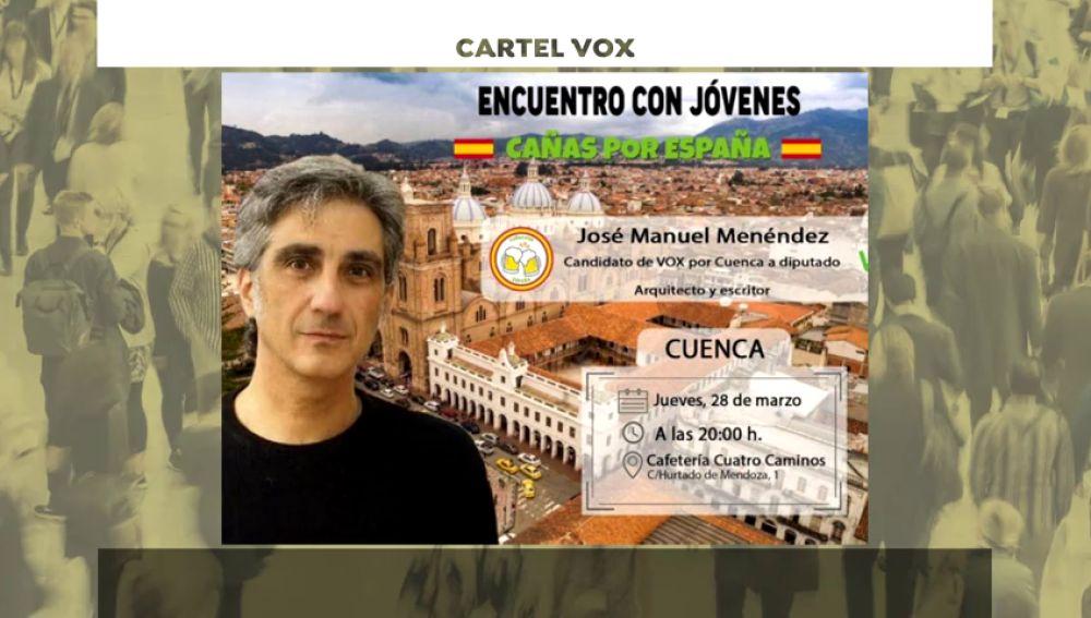 Vox se disculpa por usar una imagen de Cuenca (Ecuador) para un cartel de Cuenca (España)