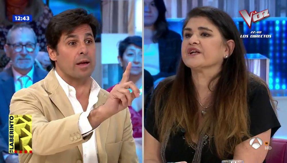 Rifirrafe entre Fran Rivera y Lucía Etxeberría