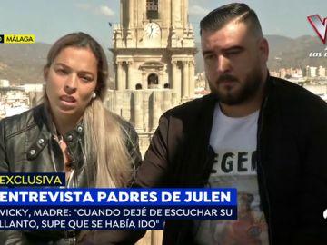 Los padres de Julen, Vicky y José