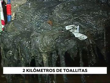 Valencia acumula 2 kilómetros de toallitas en los colectores