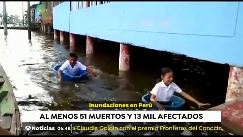 Fuertes inundaciones en Perú