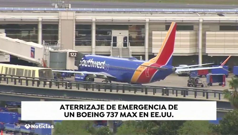Un Boeing 737 Max 8 sin pasajeros aterriza de emergencia en Estados Unidos