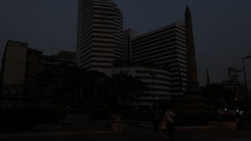 Apagón en Caracas, en Venezuela