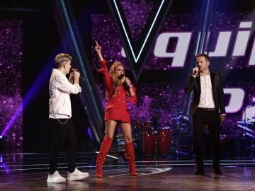 VÍDEO: Paulina Rubio canta 'Ni una sola palabra' con Marlo y Ángel Cortés en los Directos de 'La Voz'