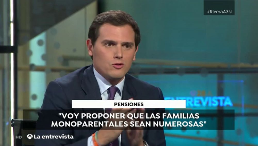 """Entrevista a Albert Rivera: """"Vamos a proponer que las familias monoparentales y con dos hijos sen consideradas familias numerosas"""""""