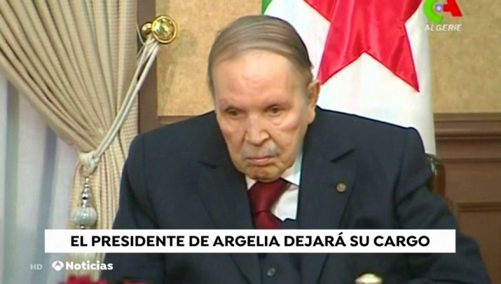 """Argelia anuncia que Buteflika dimitirá como presidente """"antes del 28 de abril"""", cuando expira su mandato"""