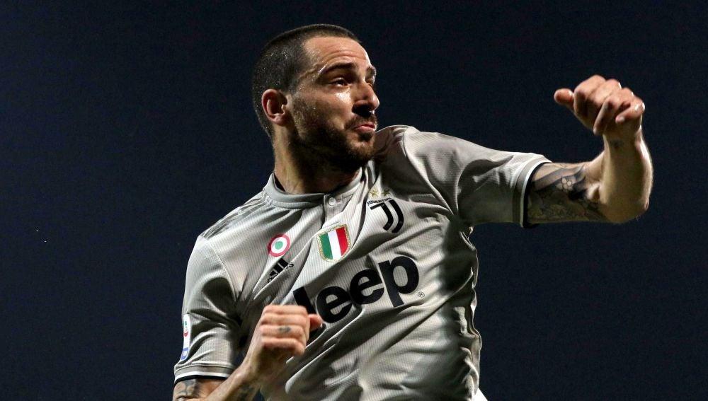 Bonucci celebra un gol de la Juventus