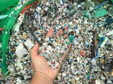 Una de las imágenes del plástico recogido