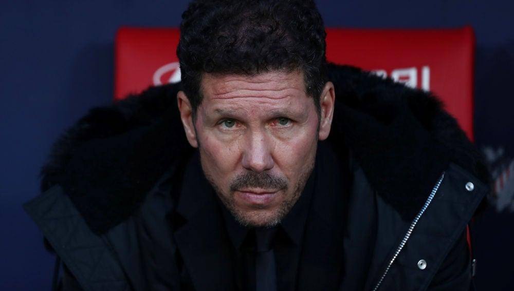 Simeone, en el choque contra el Girona