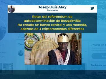 A la oficina de Puigdemont le gusta la declaración de independencia del rey de Bougainville