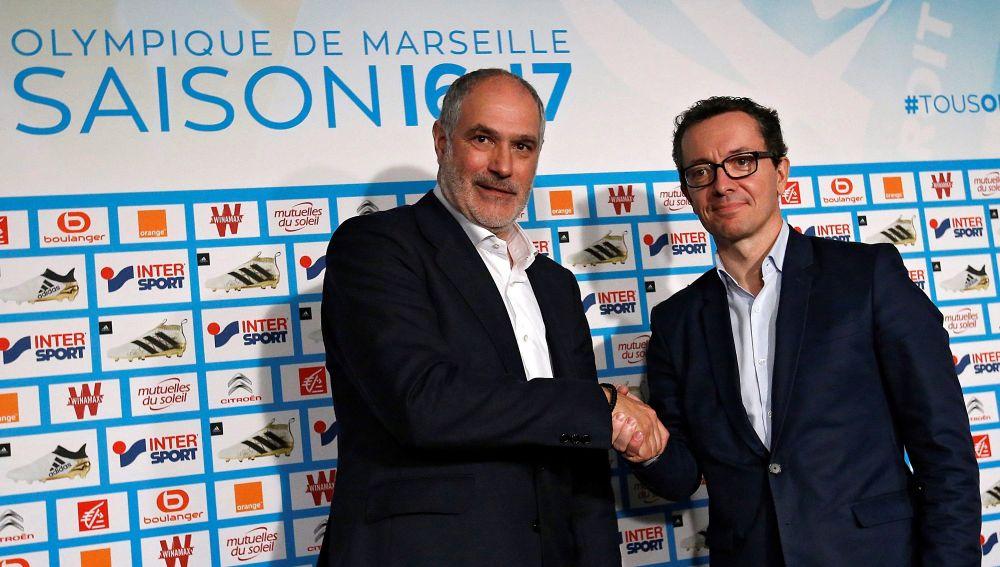 Zubizarreta, el día de su presentación con el Olympique de Marsella