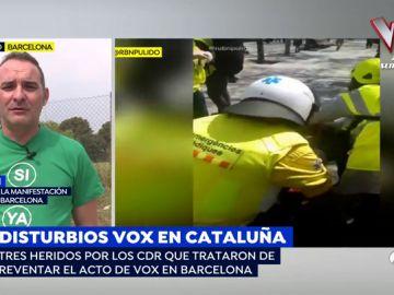 """Uno de los agredidos en los disturbios de Barcelona: """"Nos llamaron fascistas y nos golpearon sin mediar palabra"""""""