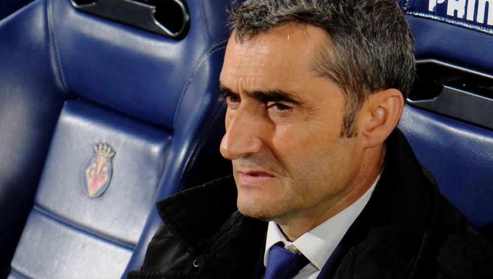 Ernesto Valverde en el partido contra el Villarreal
