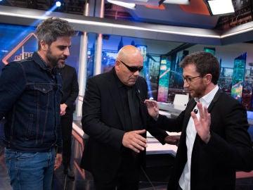 Así ha sido la llegada presidencial de Ernesto Sevilla a 'El Hormiguero 3.0'