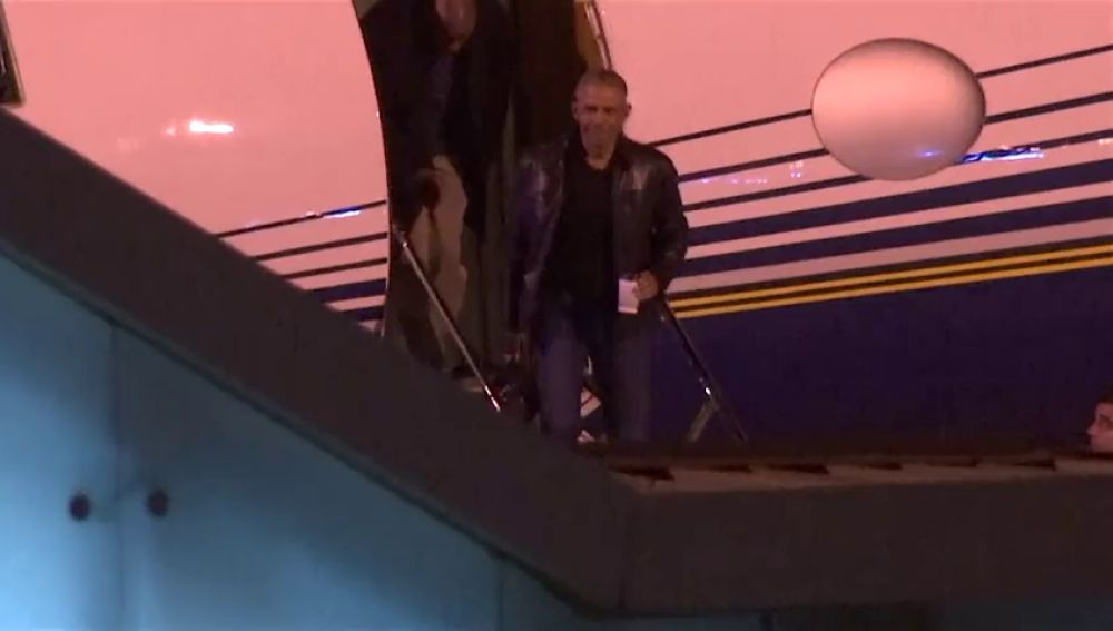 Barack Obama a su llegada a Sevilla