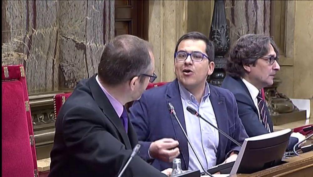 Bronca en el Parlament  entre el vicepresidente y Arrimadas