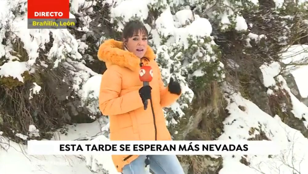 El temporal mantiene la cota de nieve a partir de los 400 metros en la zona norte de España