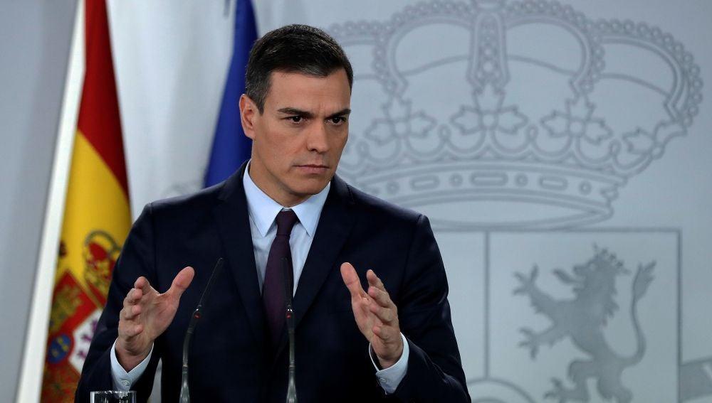 El presidente del Gobierno, Pedro Sánchez, anuncia la convocatoria de elecciones generales, en febrero.