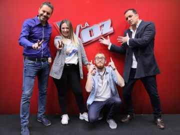 Los finalistas de La Voz: Andrés Martín, María Espinosa, Javi Moya y Ángel Cortés