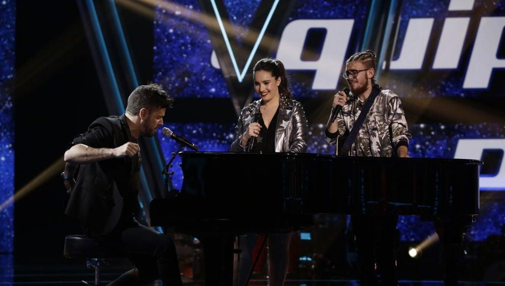 Pablo López canta 'El patio' con Auba Murillo y Andrés Martín en la Semifinal de 'La Voz'