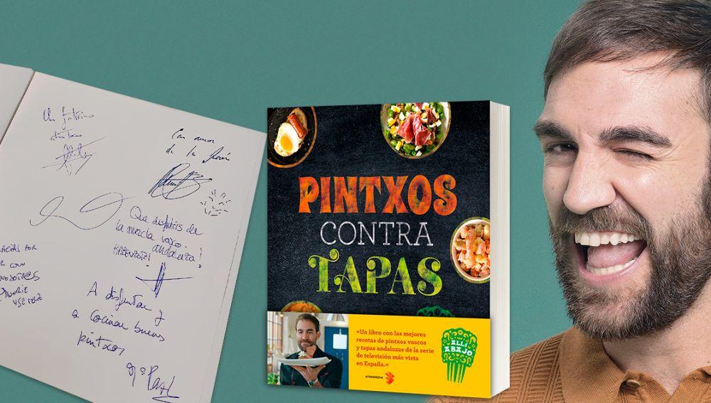 Consigue el libro de 'Pintxos y tapas' firmado por los protagonistas de 'Allí abajo'
