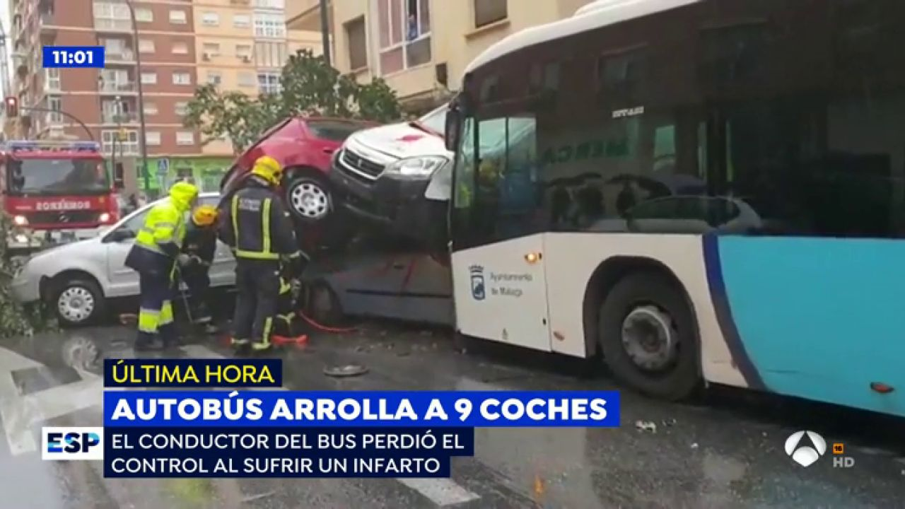 Un conductor de autob s sufre un infarto y arrolla a una for Espejo publico hoy completo