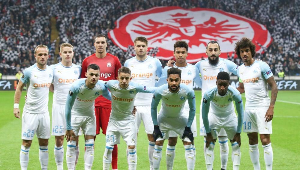 El once del Olympique de Marsella ante el Eintracht