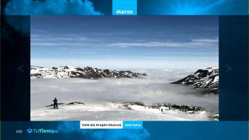 La foto del mar de nubes en el Valle del Alagón, elegida la mejor del marzo de los espectadores