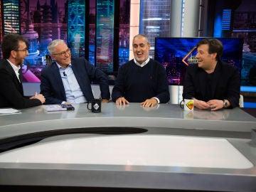 Xavier Sardà, Carlos Latre y Jorge Salvador zanjan en 'El Hormiguero 3.0' los rumores sobre las orgías