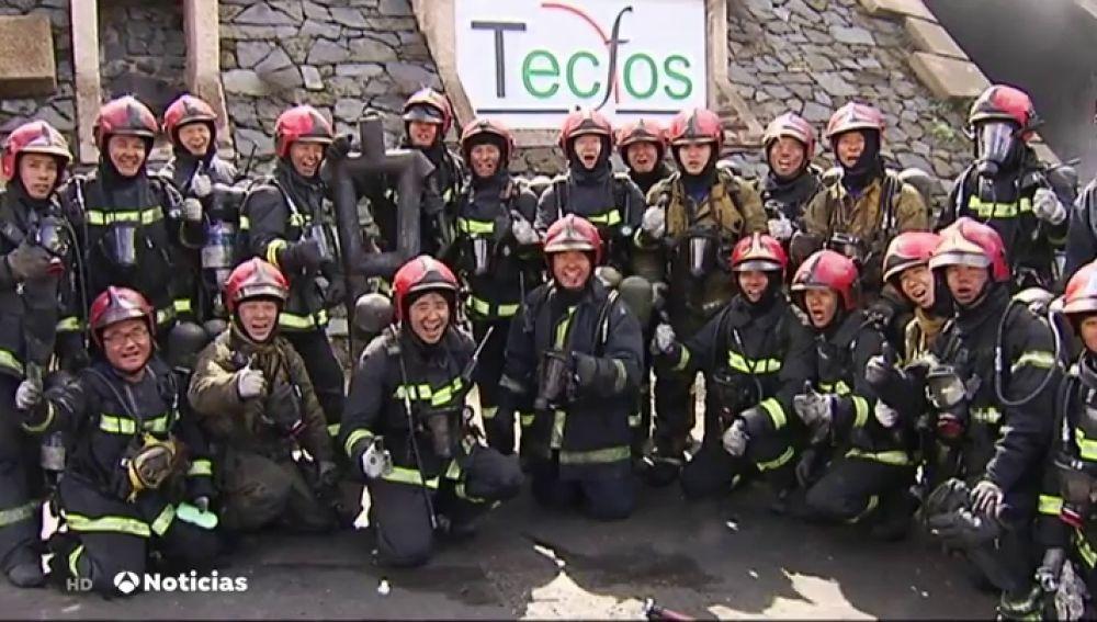 Bomberos taiwaneses viajan a una mina de León para aprender nuevas técnicas de rescate